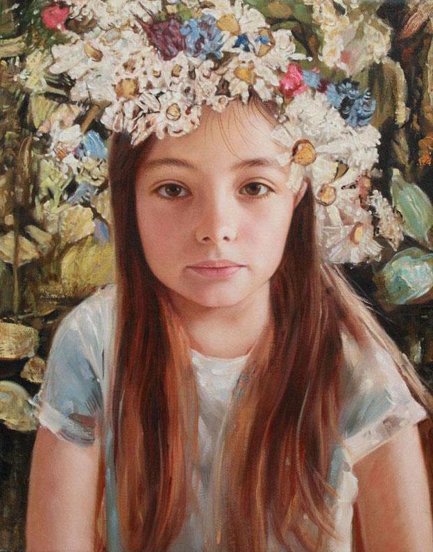 Audacieux Portrait d'après photo | Peinture à l'huile | Paris BM-52